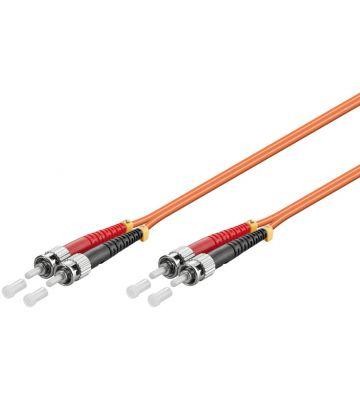 Glasvezel kabel ST-ST OM2 (laser optimized) 10 m