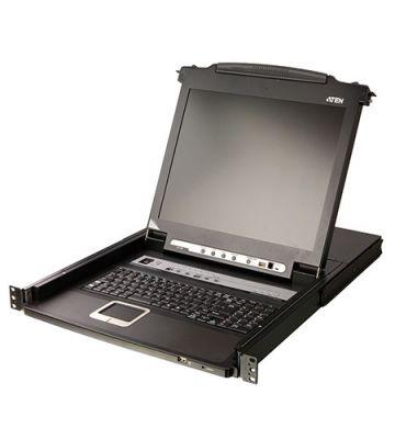 "AMK808-17PB 1U, single rail, 17"" LCD keyboard drawer with 8-port KVM switch"