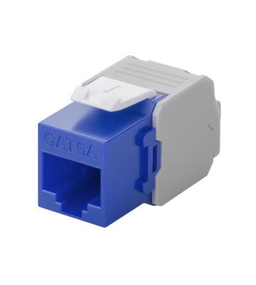 CAT6a UTP Keystone Connector - Toolless - Blauw