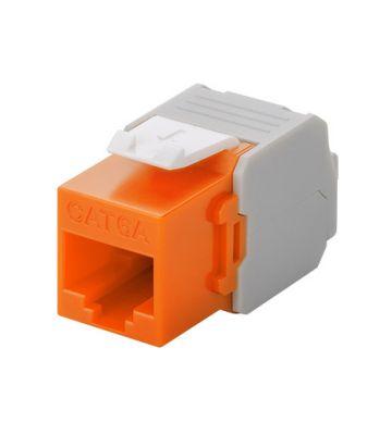 CAT6a UTP Keystone Connector - Toolless - Oranje