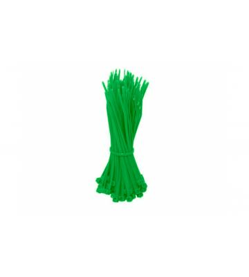 Kabelbinders140mm groen - 100 stuks