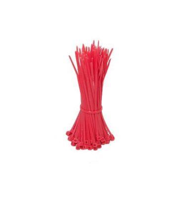 Kabelbinders 140mm rood - 100 stuks
