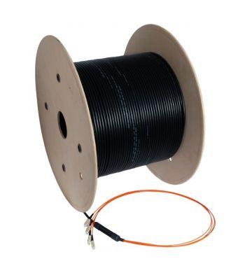 OM2 glasvezel kabel op maat 4 vezels incl. connectoren