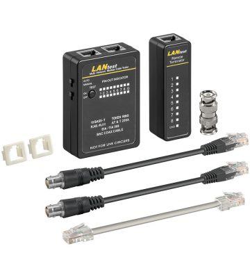 Netwerk kabel tester UTP, FTP, SFTP en coaxiale netwerk kabels.
