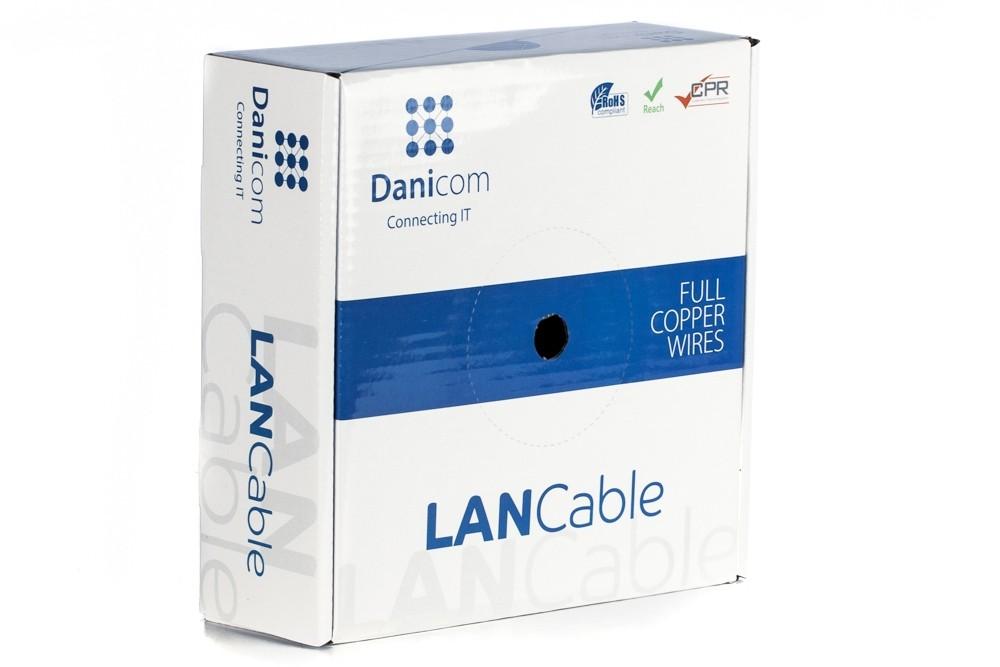 Afbeelding van DANICOM CAT6 FTP 50m op rol stug - PVC (Eca)