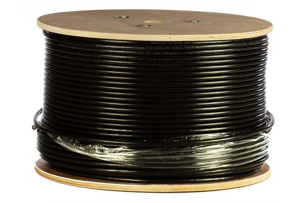 Afbeelding van DANICOM CAT6 FTP 305m Buitenkabel op rol stug - PE (Fca)