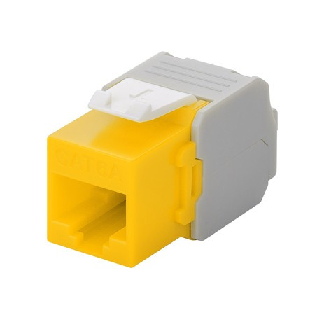 Afbeelding van CAT6a UTP Keystone Connector - LSA - Geel