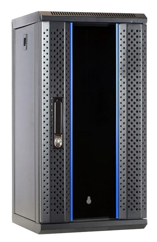 Afbeelding van 10 inch 12U Patchkast met glazen deur 312x310x618mm (BxDxH)