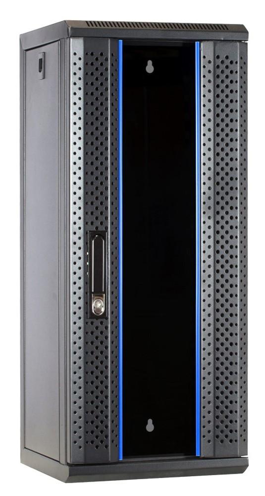 Afbeelding van 10 inch 15U Patchkast met glazen deur 312x310x752mm (BxDxH)