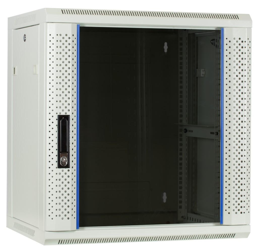 Afbeelding van 12U Witte Wandkast met glazen deur 600x450x635mm
