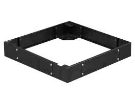 """Afbeelding van Sokkel voor 19"""" patchkasten, afmetingen: (BxDxH) 600x1200x100mm, zwart"""