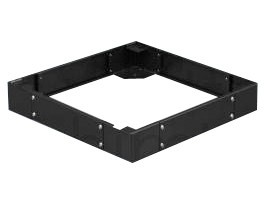 """Afbeelding van Sokkel voor 19"""" patchkasten, afmetingen: (BxDxH) 600x600x100mm, zwart"""