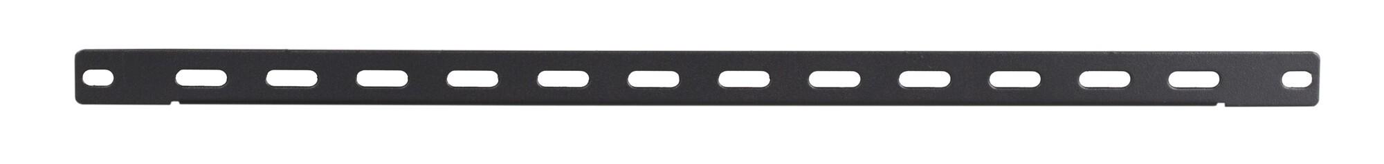 Afbeelding van 1U 19 inch metalen rail voor kabelbinders